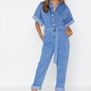 NASTY GAL The Complete Package Denim Jumpsuit
